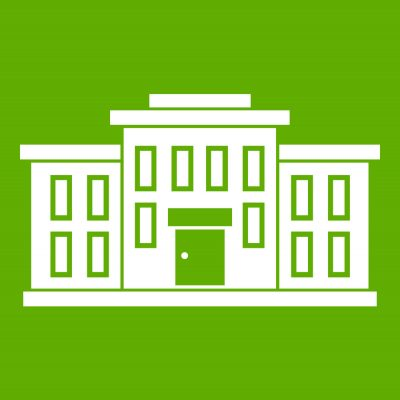 School-building-icon-green-vector-18120456